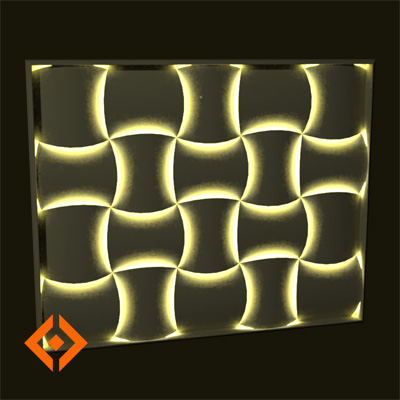 Wovin Wall from 3form is a modular decorative tili....