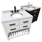 The Hutton Single Washstand and Single Vanity from...