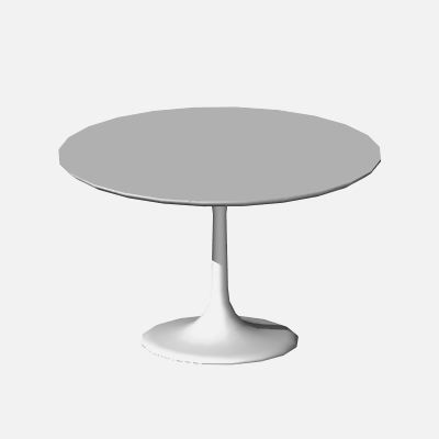 Scale GDL object of the Saarinen table. 