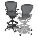 Aeron Work Stool by Herman Miller. Ergonomic comfo...