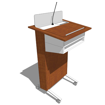High Tech Desk nucraft high tech lectern 3d model - formfonts 3d models & textures