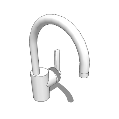 'Silver' mono basin mixer designed by David Chippe....