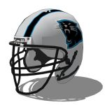 Carolina Panthers football helmet