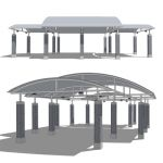 A large outdoor pavilion.