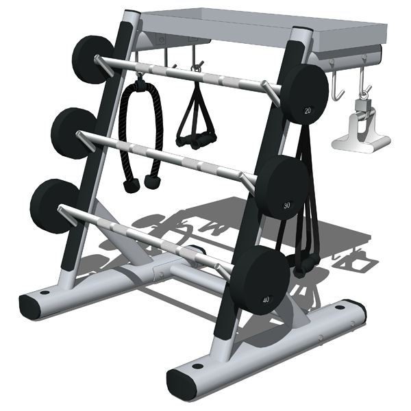Life Fitness Signature Series Weights Storage Stat....