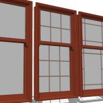Marvin aluminum clad wood double hung windows with...