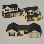 This set contains three low poly, full textured ho...