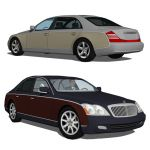 Maybach 57, with the 62 version.