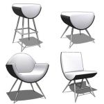 Collection of 4 chairs design by Umberto Bertoni