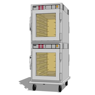 Commercial Kitchen Heated Holding Cabinet. Stacked....
