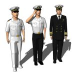 Three navy officers (US Navy look)