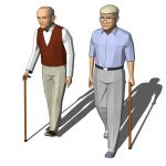 Two models of elderly men 