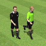 Two soccer referees.
