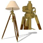 The Royal Marine Tripod Floor Lamp is a reproducti...