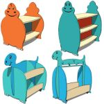Children dino shelves collection-01 by giosto crea...