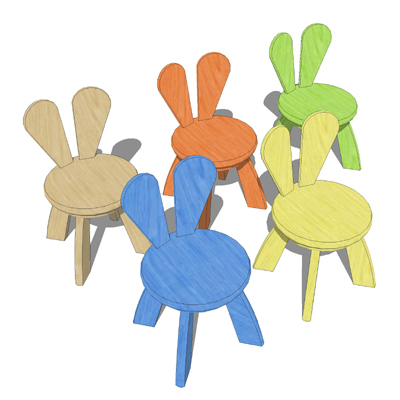 The Rabbit chair and tables for children distribut....