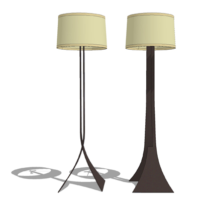 A handsome floor lamp by Hubbardton Forge..