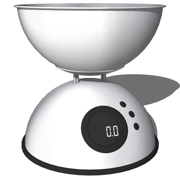 Kitchen Scales with Bowls. Mechanical and digital..