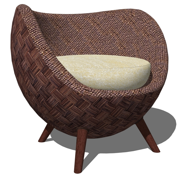 La Luna Arm Chair and Ottoman by Kenneth Cobonpue.....