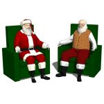 Santa Claus set 20 (seating)