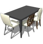 Phil high gloss table,accento chair,sophia side ch...