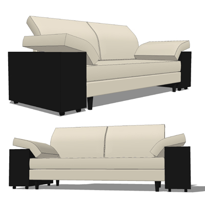 The Lota Sofa by designer Eileen Gray, distributed....