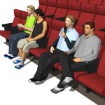 Four low poly models of young 