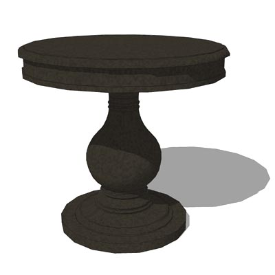 36 inch diameter by 32 inch tall foyer table by Re....