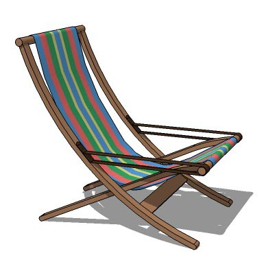 Foldable deck or pool lounge chair.