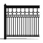 Decorative steel or iron fence segment