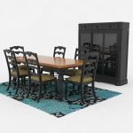 View Larger Image of FF_Model_ID14166_Traditional_Dining_Set_03.jpg