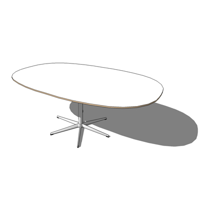 A413, Super Ellipse table by Fritz Hansen, The ser....