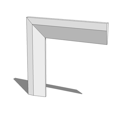 70mm wide chamfered architrave kit - 1 component, ....
