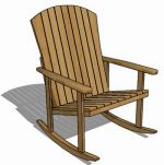 Solid teak rocking chair