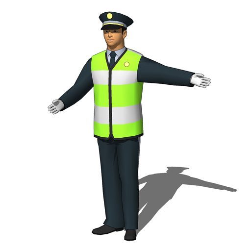 Office furniture icon png - Traffic Police Agents 3d Model Formfonts 3d Models