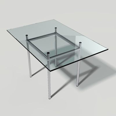 This is a set of Cassina dining tables. Render Rea....