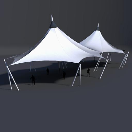 High Tension Membrane Roofs 3d Model Formfonts 3d Models