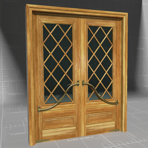 Mahogany French Door Marsala.