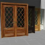 Mahogany French Door Marsala