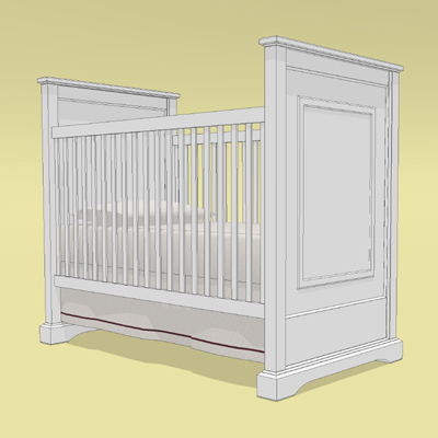 This is a crib and conversion bed from the Restora....