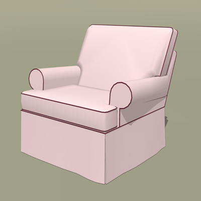 This is the Marlowe Rocker and Ottoman set in pink....