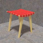 Stool by Jens Risom for Knoll. Cotton canvas woven...