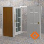 Basic interior door types with dynamic animation. ...