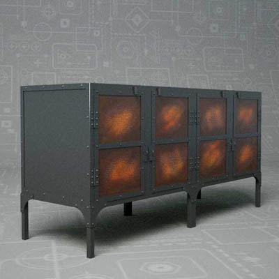 Tool Chest Console by Restoration Hardware. 62&quo....