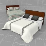 Four models of comforters with 