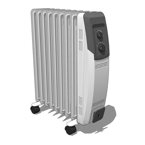 Oil-Filled Electric Radiator 