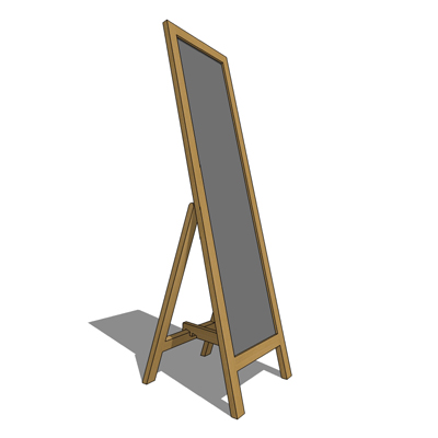 Sovereign free standing mirror by Habitat - 1567mm....
