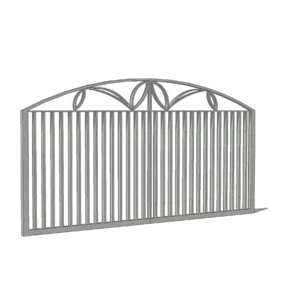 Metal entrance gates to protect from intruders.