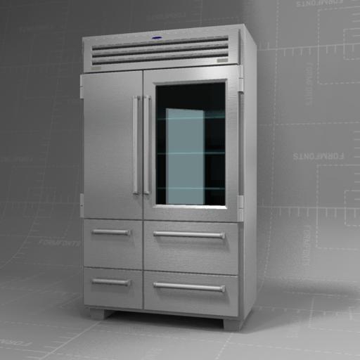 Sub Zero 48 Refrigerator 3d Model Formfonts 3d Models