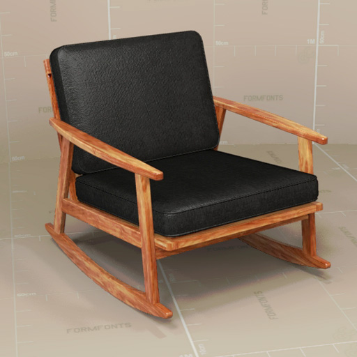 Mid Century Rocker Chair. Revit Version Added.